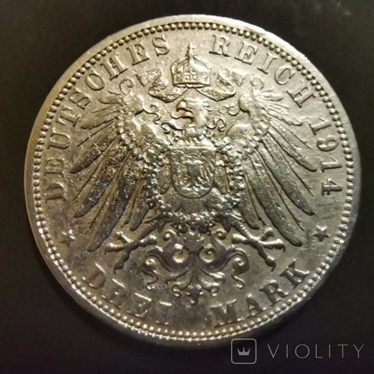 3 марки 1914 р.Пруссія, фото №2