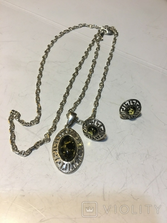 Кулон і сережки, фото №3