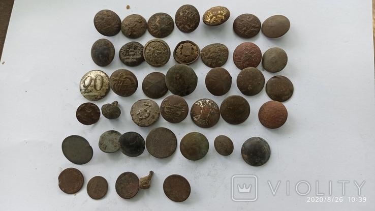 Пуговицы царские 40 шт, фото №2