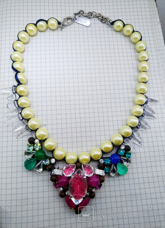 Ожерелье с жемчугом и камнями Swarovski, RADA ITALY. 135 грамм, фото №10