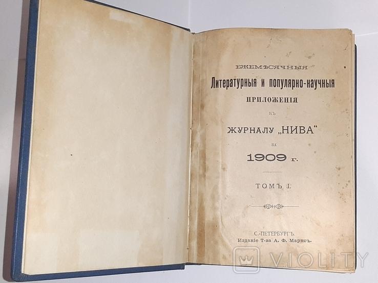 """Литературные и популярно-научные приложения к """"Ниве"""" за 1909 год, фото №2"""