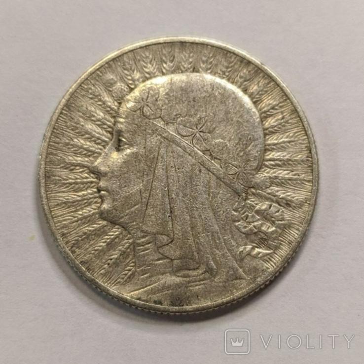 Польша 5 злотых 1934 год серебро, фото №2