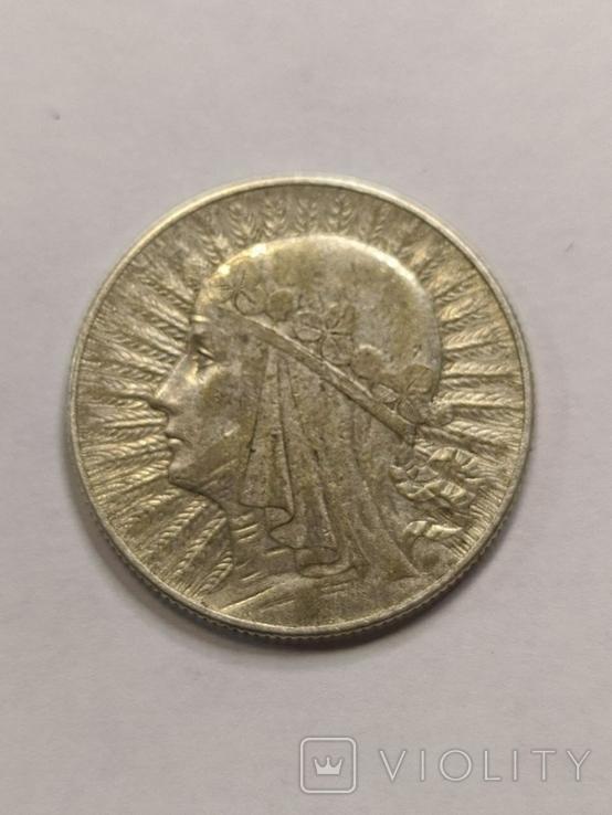 Польша 5 злотых 1933 год серебро