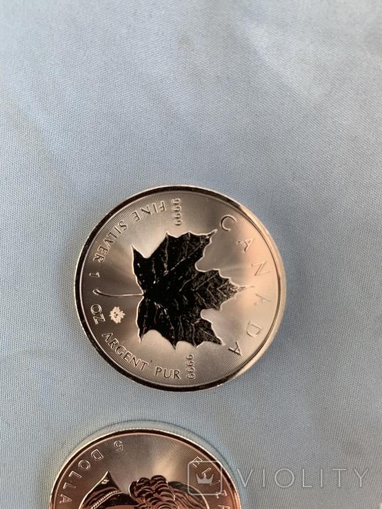 Канада 5 долларов 2020 серебро 999 унция, фото №6