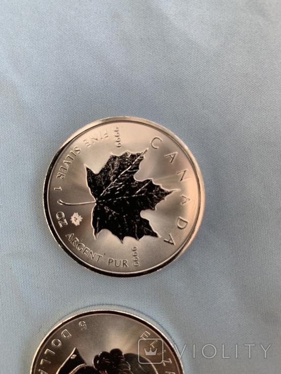 Канада 5 долларов 2020 серебро 999 унция, фото №7