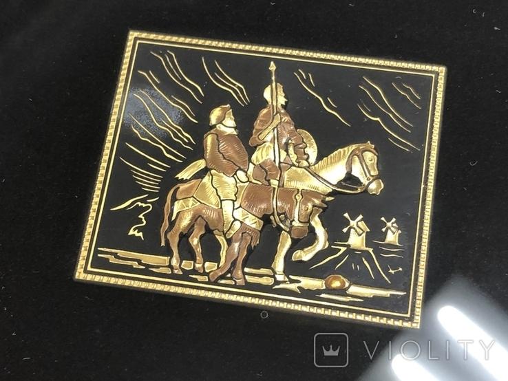 Картина Toledo Испания Дон Кихот 24к и 18к, фото №4