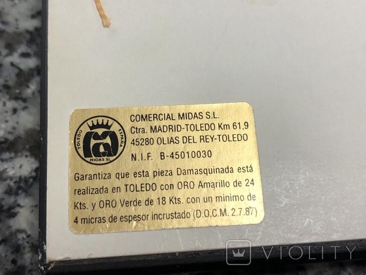 Картина Toledo Испания Дон Кихот 24к и 18к, фото №7