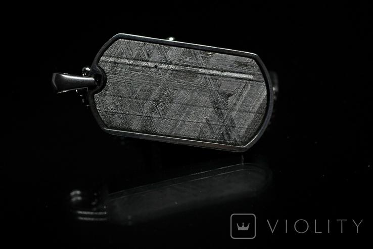 Підвіска із залізним метеоритом Muonionalusta, із сертифікатом автентичності, фото №6