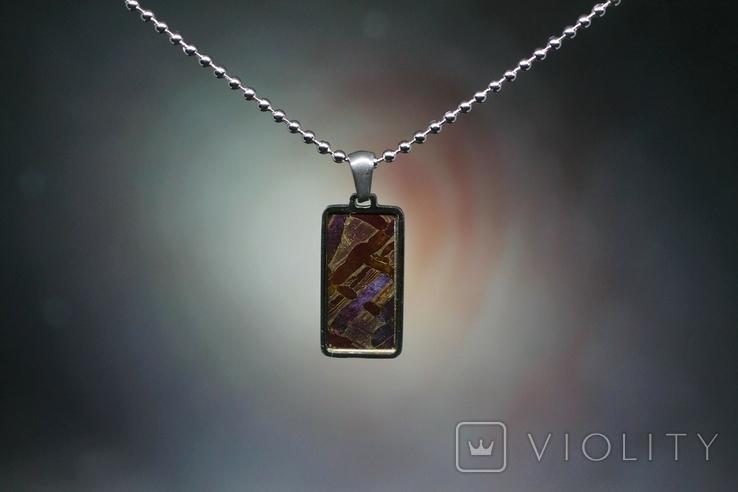 Підвіска із залізо-камяним метеоритом Seymchan, з сертифікатом, фото №4