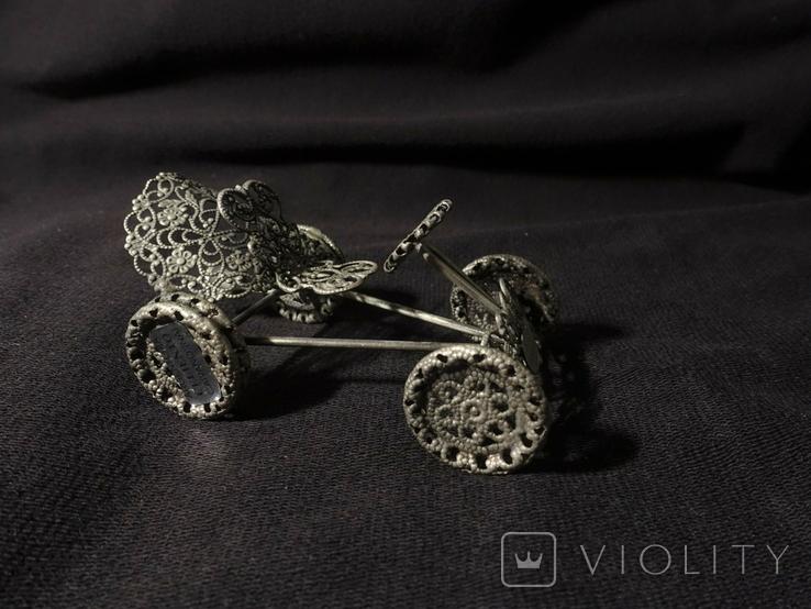 Автомобиль из серебра  925 ZOCCHI 35,5 гр., фото №2