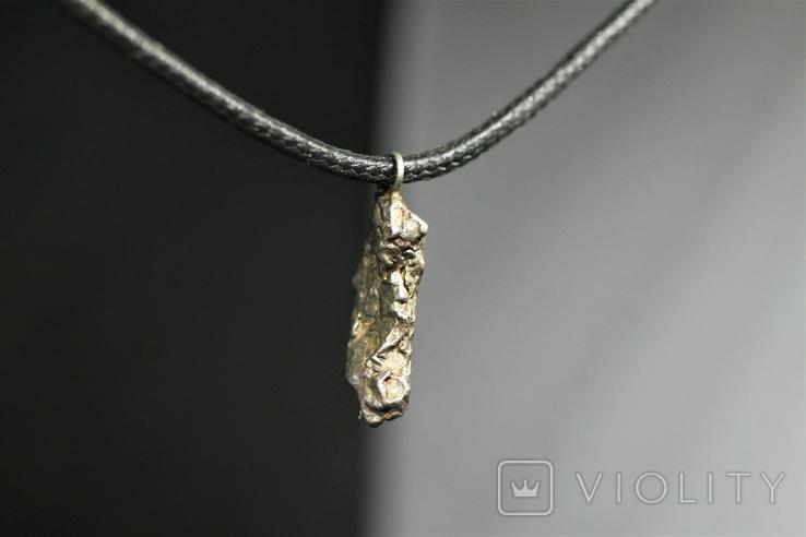 Кулон із залізного метеорита Campo del Cielo, із сертифікатом автентичності, фото №5