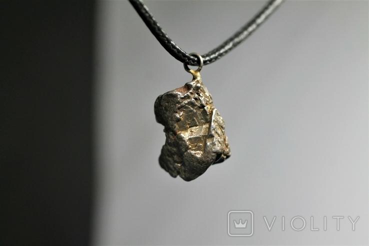 Кулон із залізного метеорита Campo del Cielo, із сертифікатом автентичності, фото №2