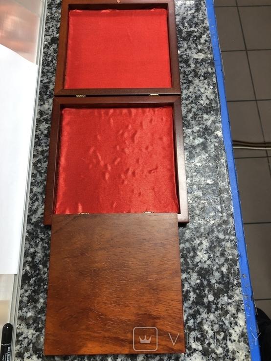 Металическая тарелка Великая китайская стена с деревянной подставке, фото №5