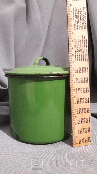 Винтаж. Бидон эмалированный Германия 1 L., фото №12