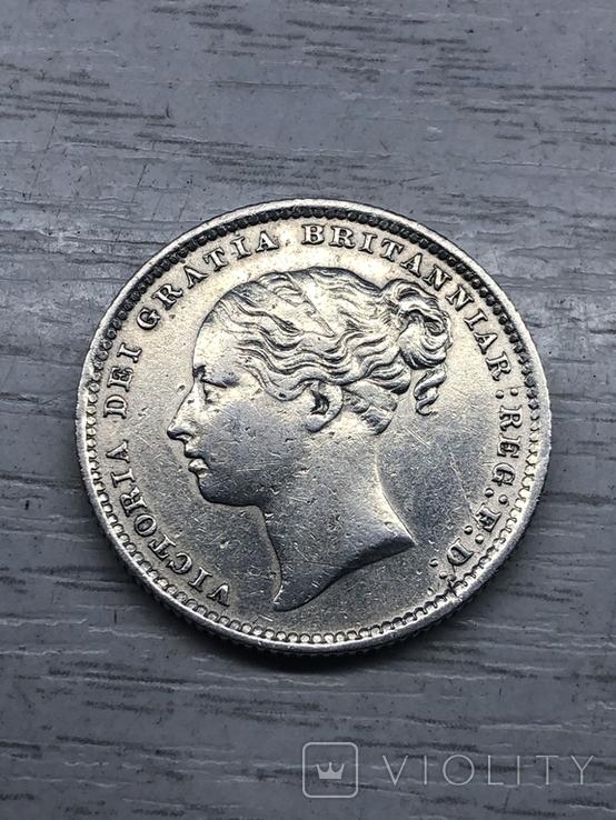 Один шиллинг 1886, Великобритания, фото №3
