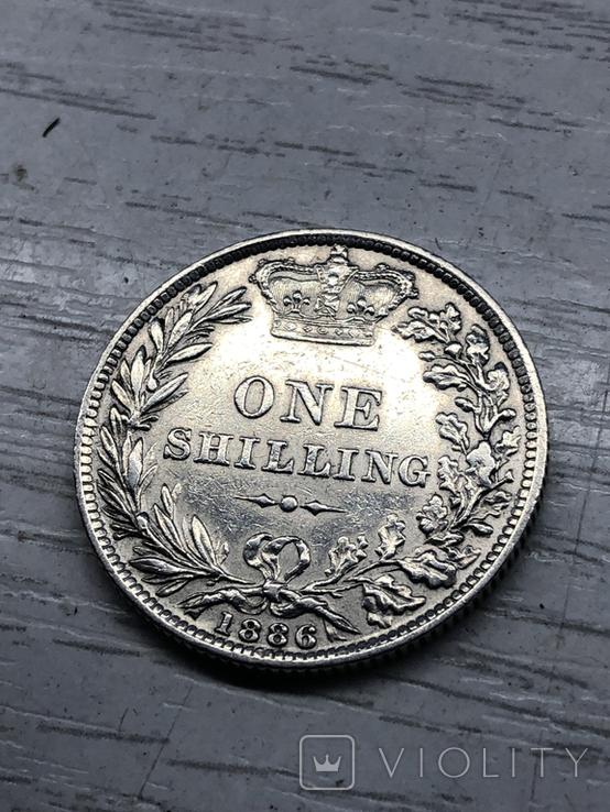 Один шиллинг 1886, Великобритания, фото №4