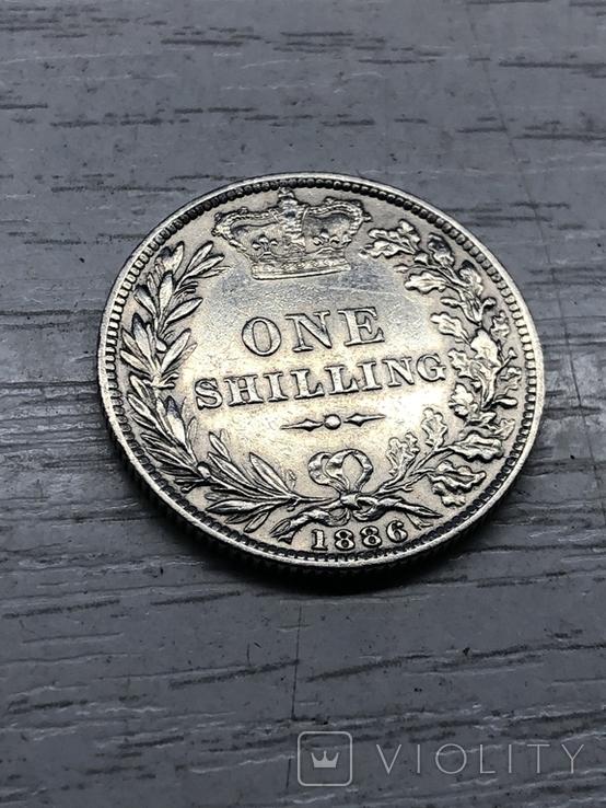 Один шиллинг 1886, Великобритания, фото №5