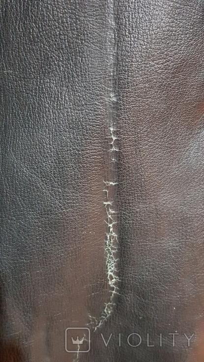 Немецкий зеленый кожаный плащ. размер М, фото №5