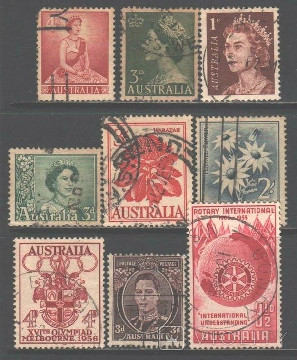 Брит. Австралия, старые марки, гаш.