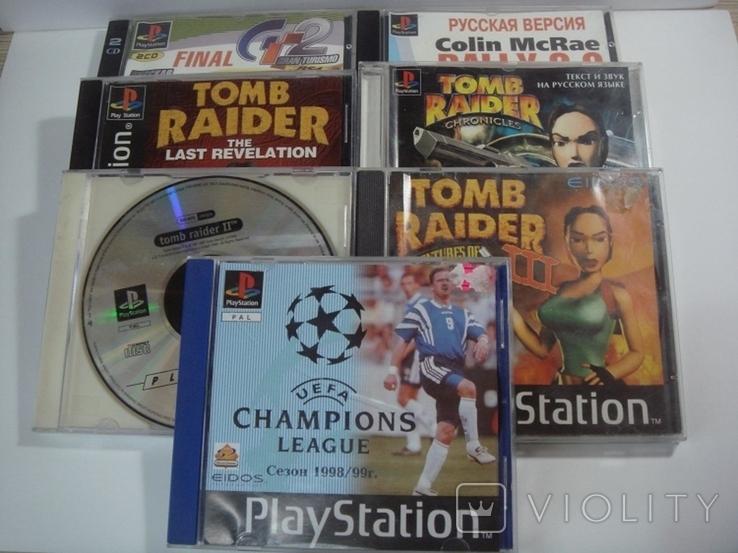 8 дисков на на 7 игр Sony PlayStanion + коробка для приставки, фото №2