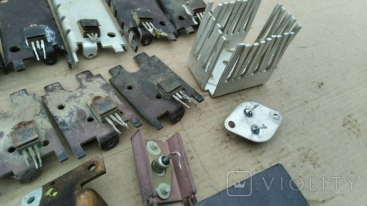 Радиаторы с радиодеталями - 1.2 кг., фото №8