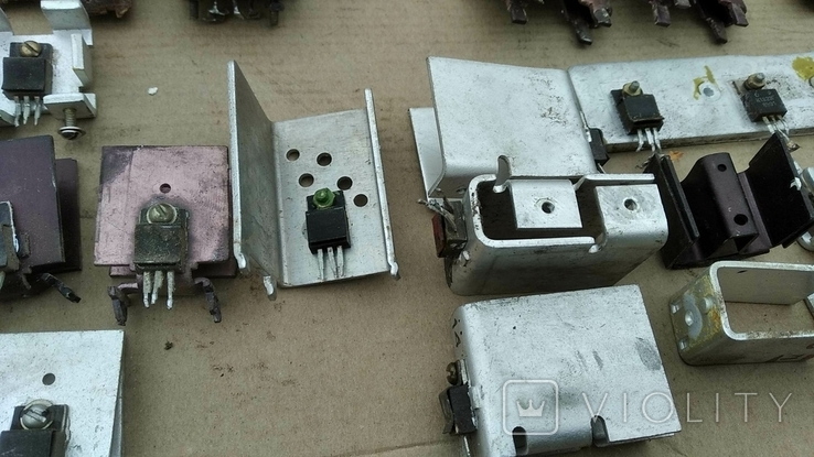 Радиаторы с радиодеталями - 1.2 кг., фото №13