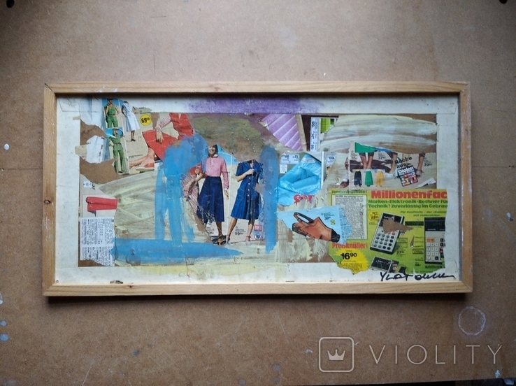 """""Абстракция""коллаж. 34х70. 2007. А. Шевчук(1951-2008), фото №2"