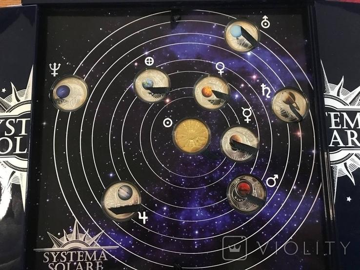 Набор серебряных монет Солнечная система, фото №2