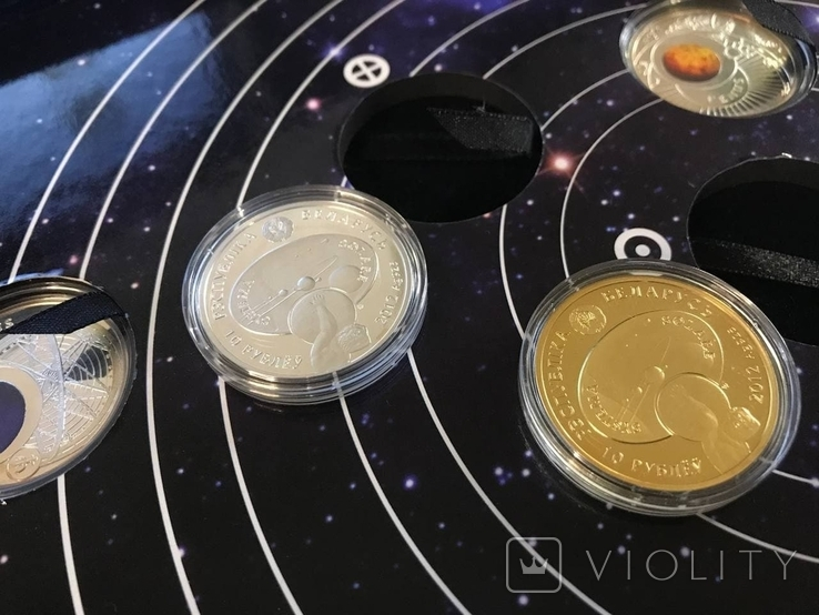 Набор серебряных монет Солнечная система, фото №8