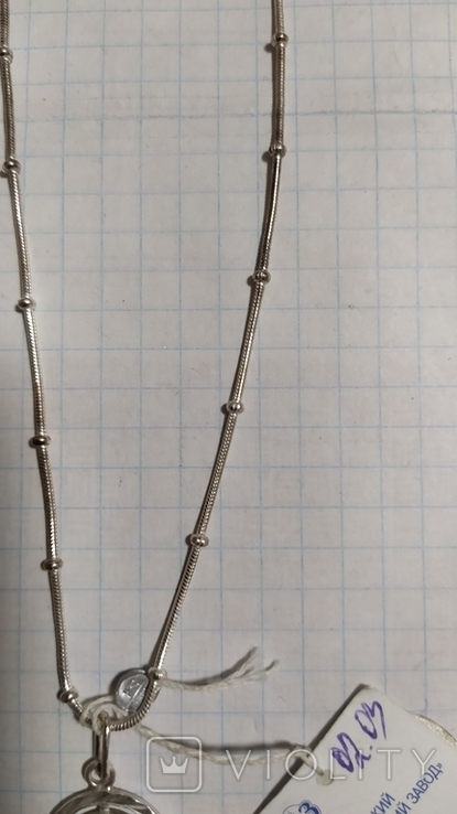 Серебренная цепочка с кулоном., фото №5