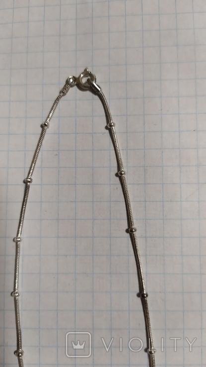 Серебренная цепочка с кулоном., фото №6
