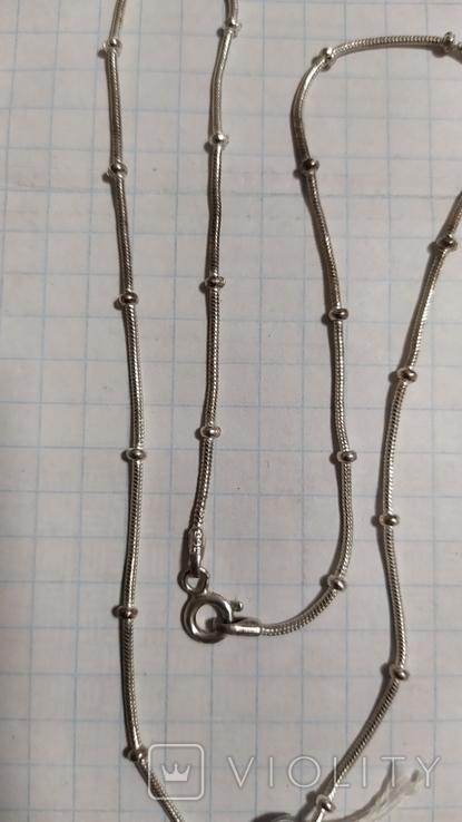 Серебренная цепочка с кулоном., фото №8