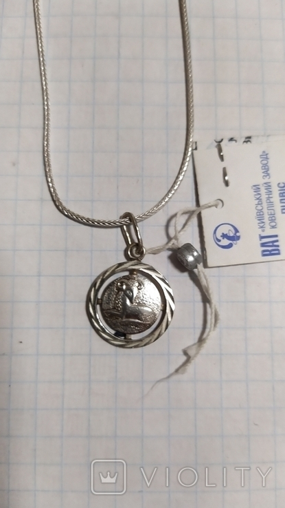 Серебренная цепочка с кулоном.2., фото №3