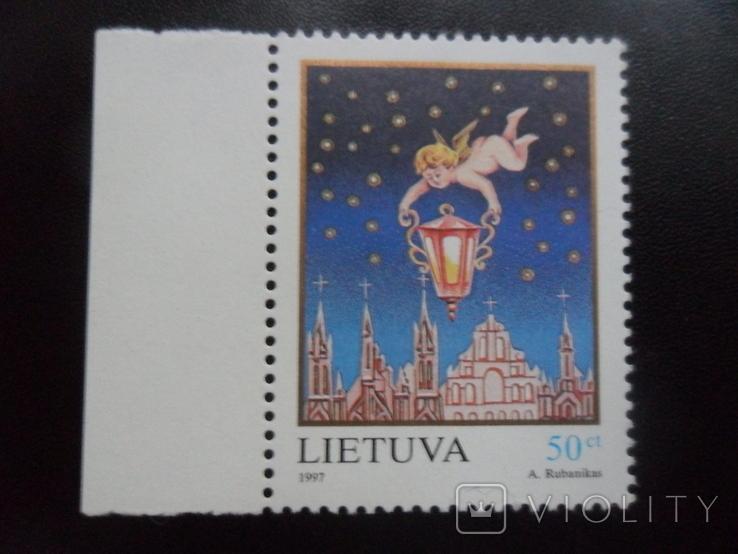 Литва. 1997 г. Рождество.  MNH, фото №2
