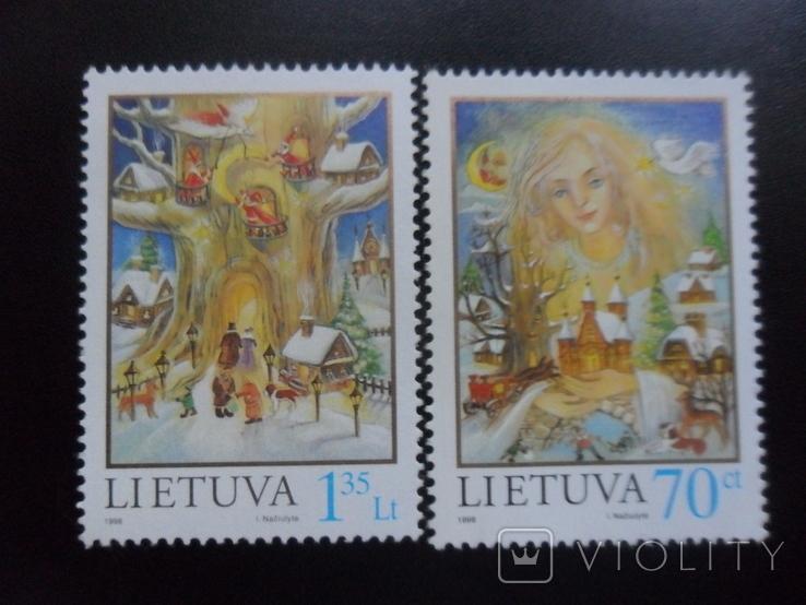 Литва. 1998г. Рождество. серия  MNH, фото №2