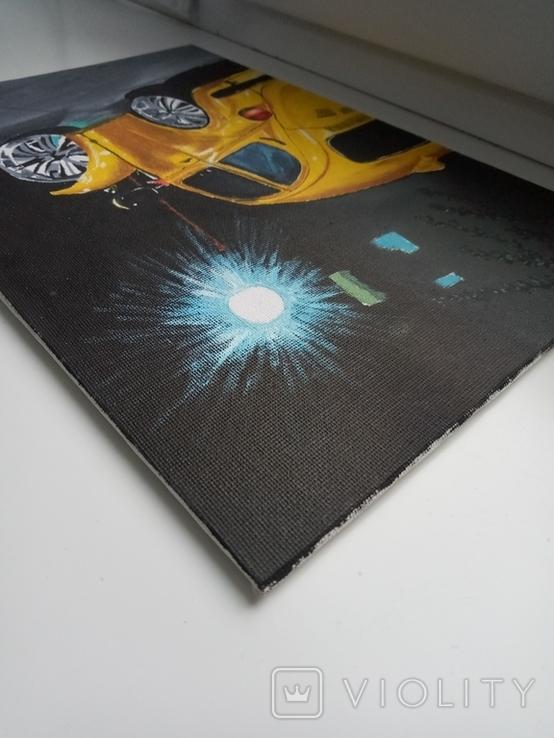 Картина маслом 20х30 Желтый Жук, фото №4