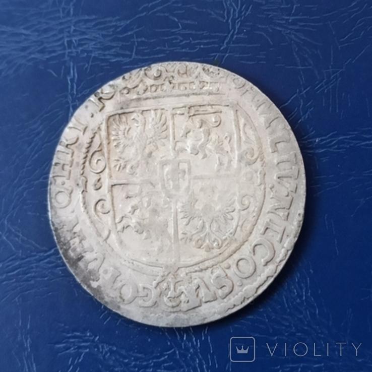 Орт 1621 г. Цифра 1 на поле. Сигизмунд, фото №3