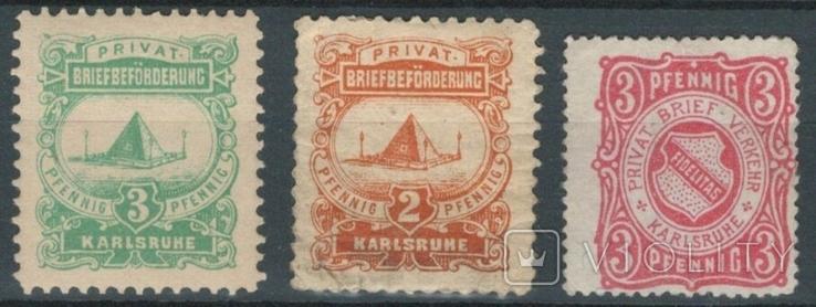 4г29 Германские города. Карлсруэ 1886-87