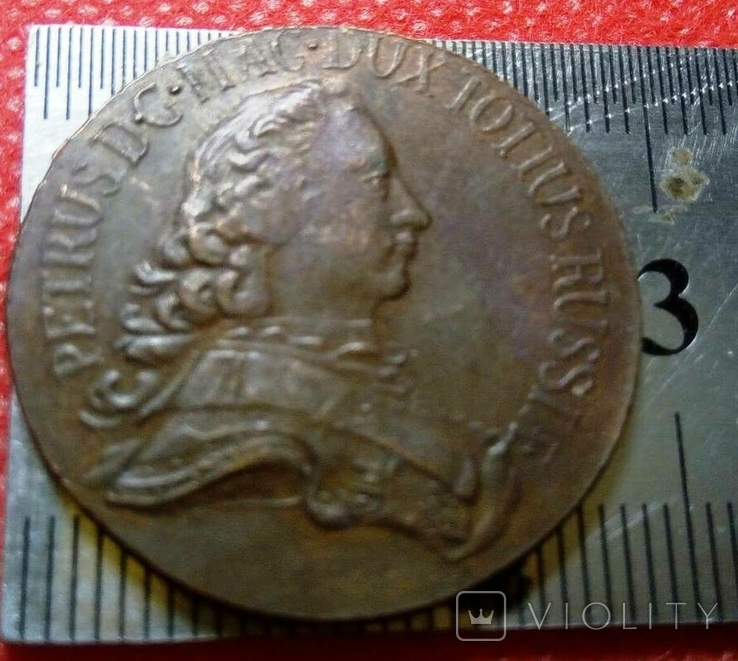 2 копійки 1761  року . Проба. Копія - не магнітна, мідна, фото №5