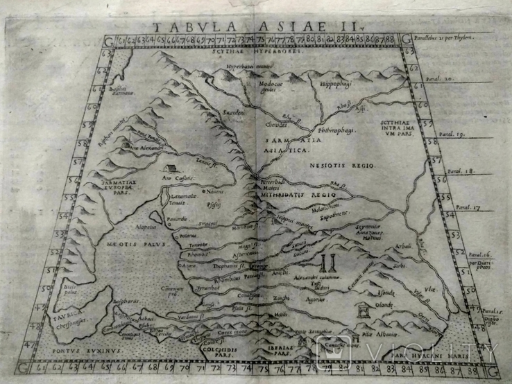1573 ПТОЛЕМЕЙ Крым Гиперборея Колхида Сарматия Украина Россия (карта 31х21) СерияАнтик, фото №2