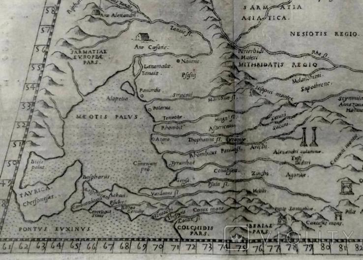 1573 ПТОЛЕМЕЙ Крым Гиперборея Колхида Сарматия Украина Россия (карта 31х21) СерияАнтик, фото №4