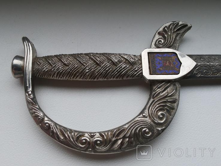 Нож для бумаги вставка герб Carcassonne эмаль, фото №5