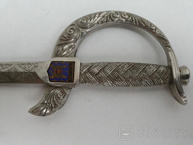 Нож для бумаги вставка герб Carcassonne эмаль, фото №11