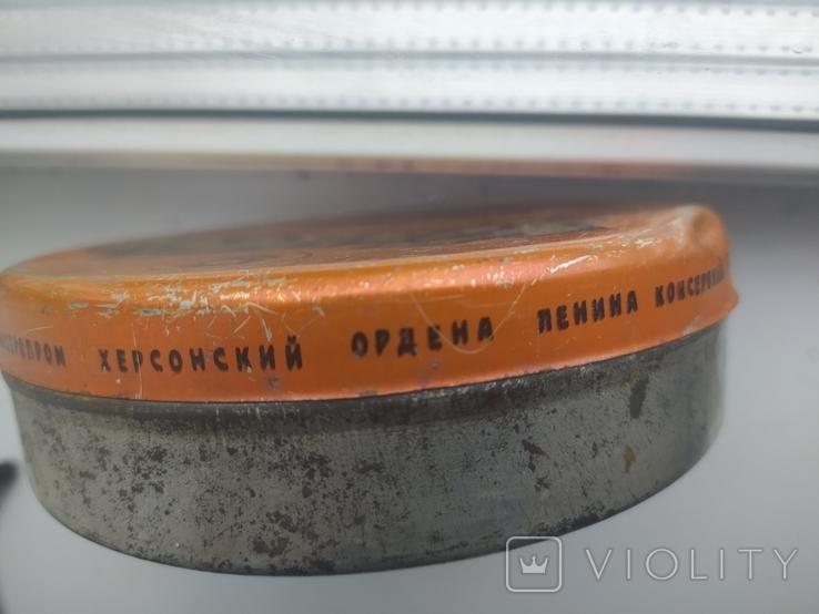 Банка от Халвы. Херсонский консервный комбинат. Ф-12,5 см., фото №4