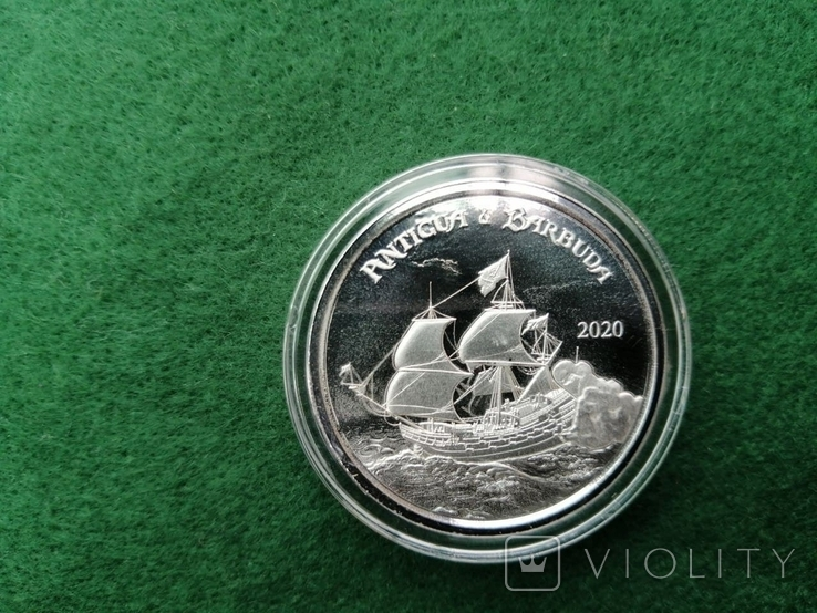 Антигуа и Барбуда - 2 доллара EC83 Rum Runner 2020 - 1 унция серебра, фото №3