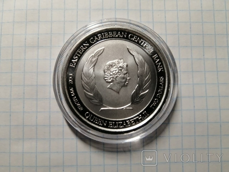 Антигуа и Барбуда - 2 доллара EC83 Rum Runner 2020 - 1 унция серебра, фото №4