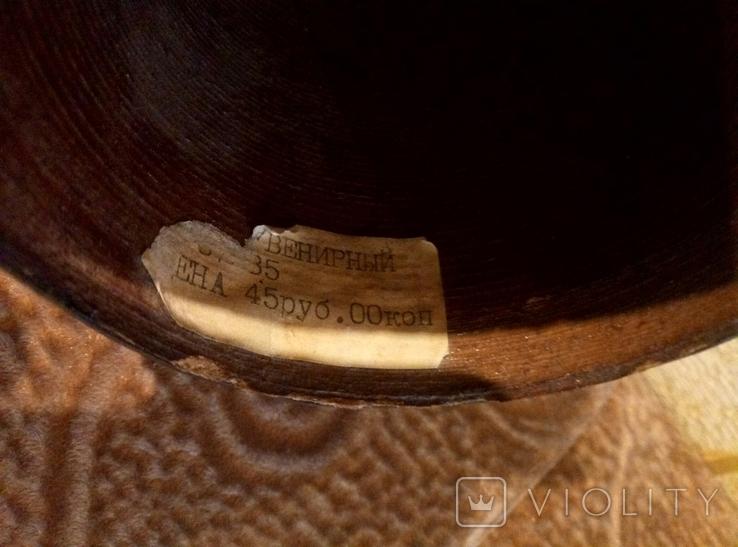Сувенирный рог, папье-маше, 50см., фото №3