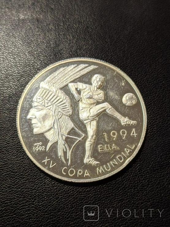 Куба 10 песо 1994 год 20 грамм серебро 999, фото №2