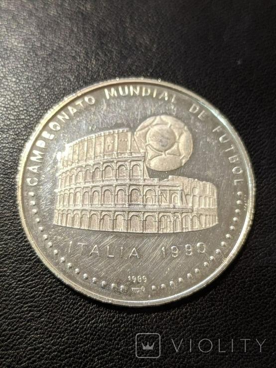 Куба 5 песо 1989 год 16 грамм серебро 999, фото №2
