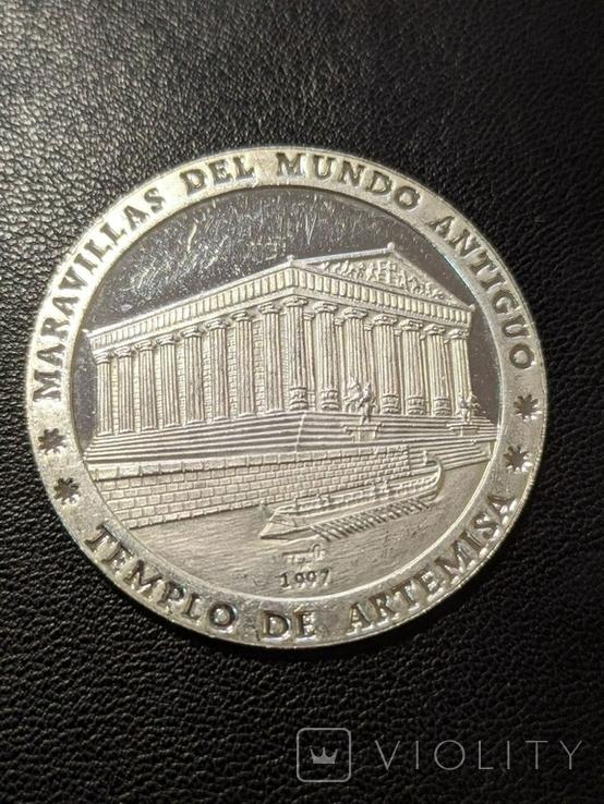 Куба 10 песо 1989 год 15 грамм серебро 999, фото №2